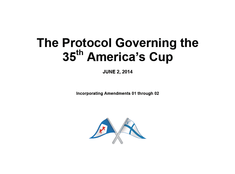 America's Cup The Protocol