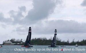 America's Cup Class catamarans test racing in Bermuda Jan'17