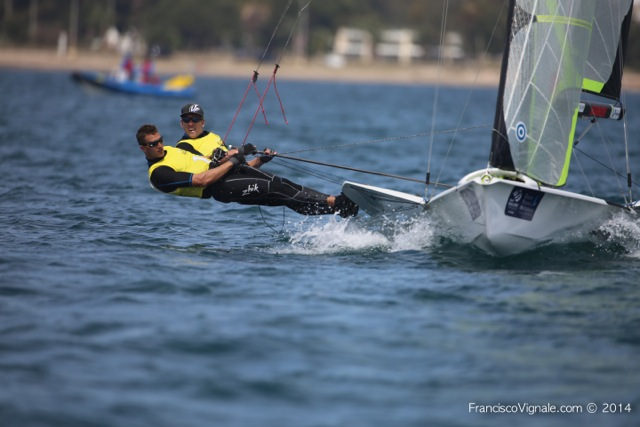 America's Cup Peter Burling and Blair Tuke won the 49er event at the ISAF World Cup event in March.