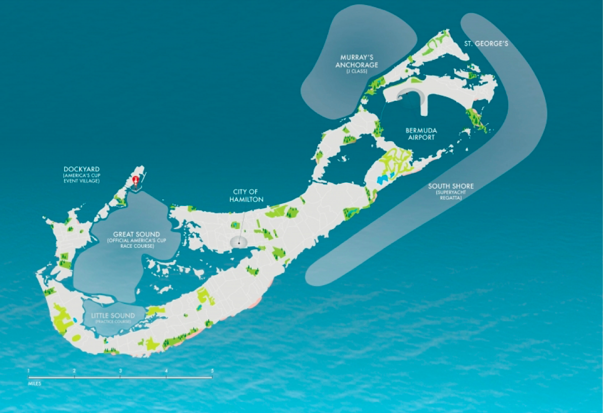 America's Cup 2017 in Bermuda - Race Areas