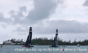America's Cup Class catamarans test racing in Bermuda Jan'17