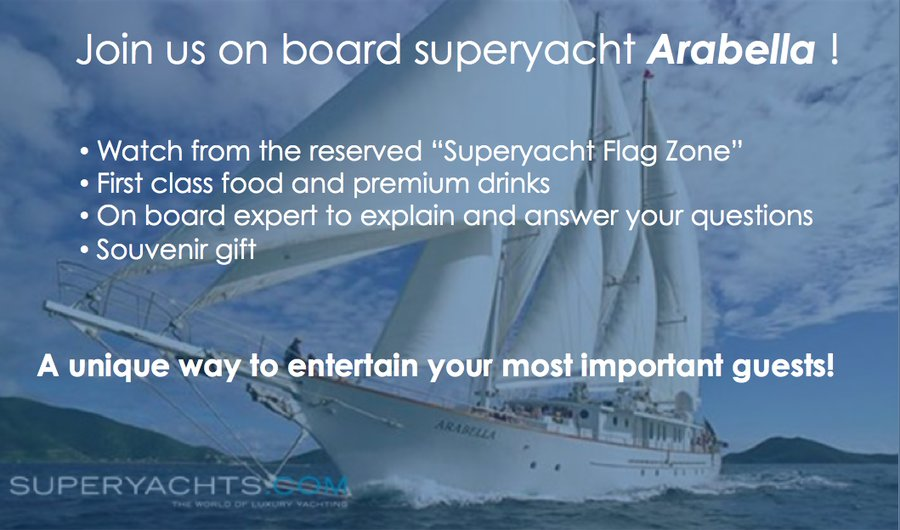 America's Cup VIP Experience on board superyacht Arabella with Groupama Team France