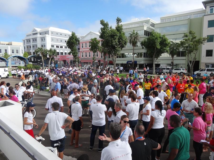 America's Cup BDA prep rally, city hall