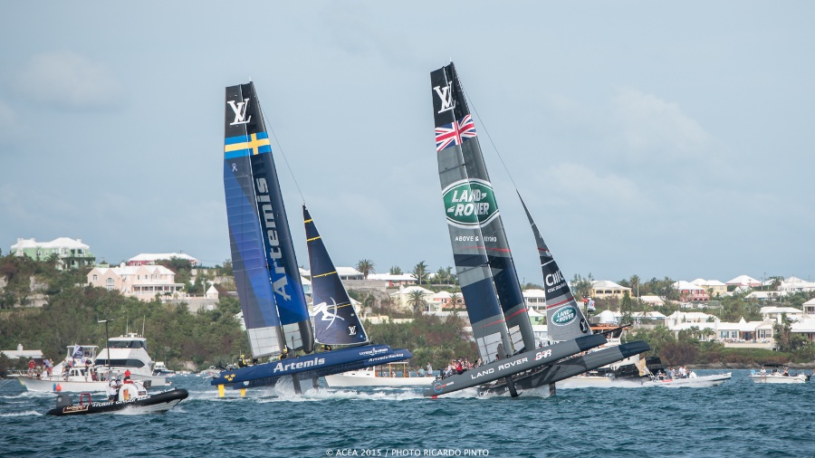 America's Cup Artemis Racing and Land Rover BAR