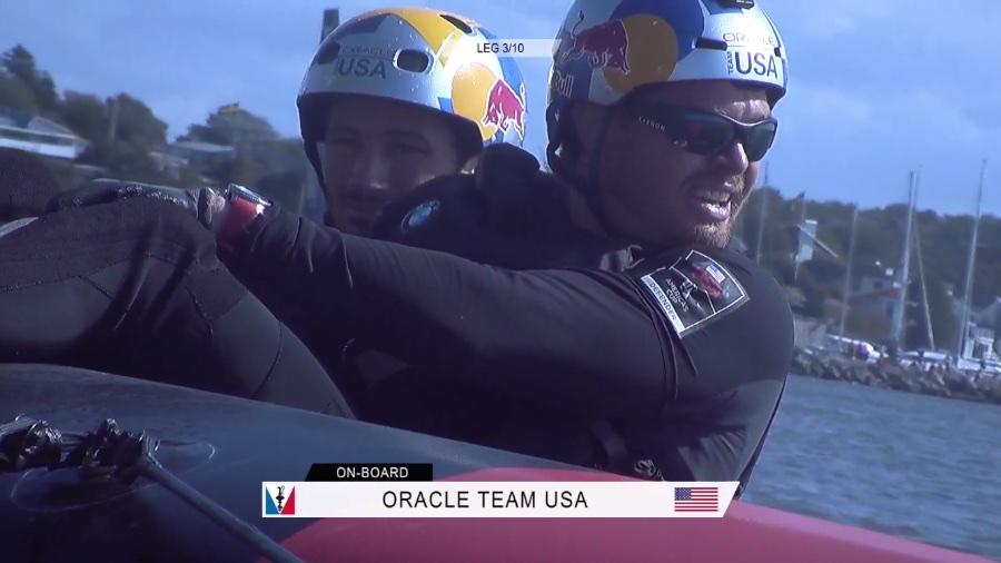 """America's Cup OTUSA tactician Tom Slingsby was """"on fire"""" on Saturday"""