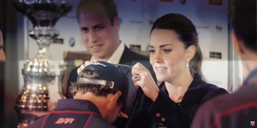 America's Cup The Duke and Duchess of Cambridge awarded the prizes.