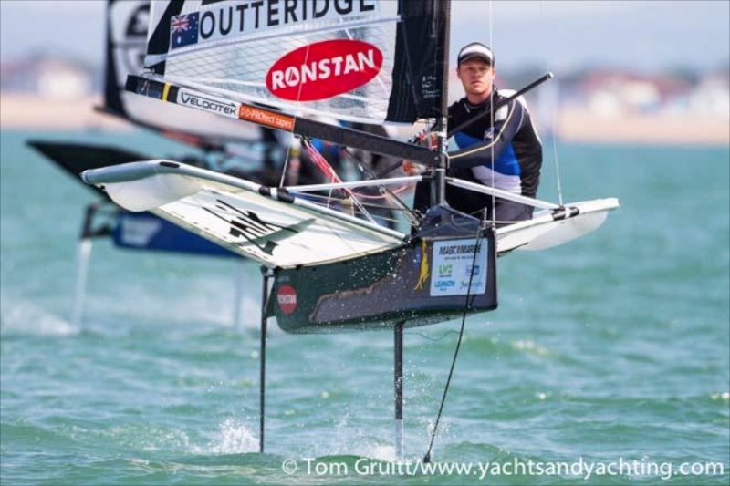America's Cup Artemis Racing's Nathan Outteridge won his second world championship in the foiling Moth in July.