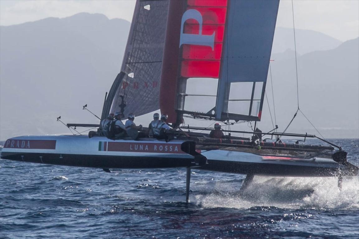 America's Cup Luna Rossa's AC45 converted for foiling, in Cagliari