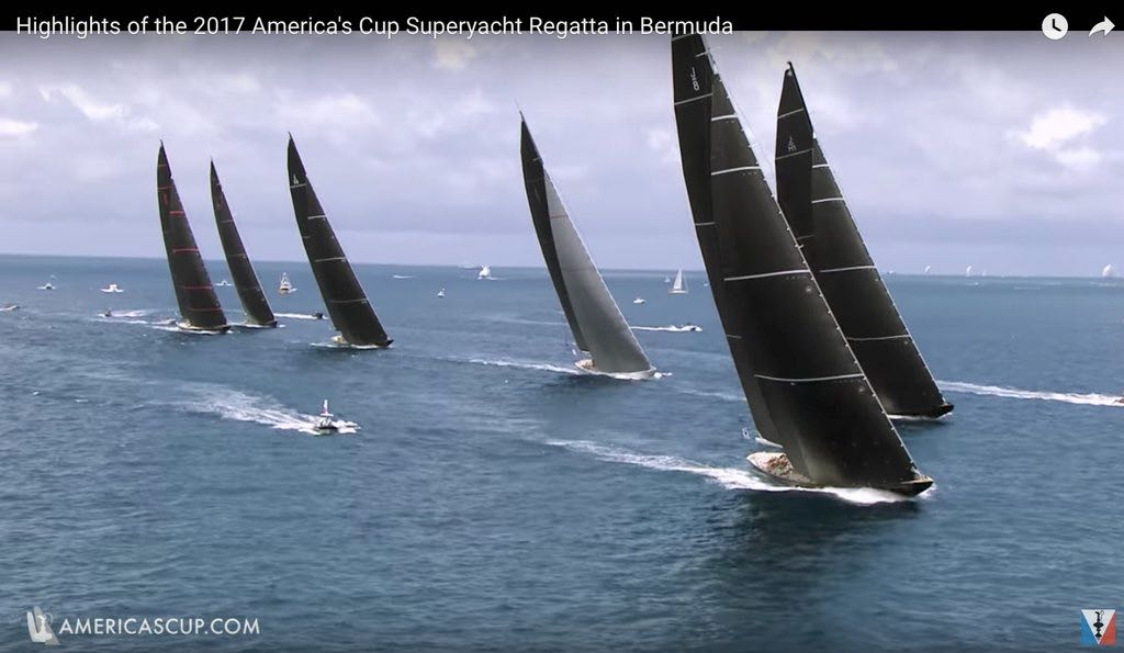 J Class racing during 2017 America's Cup in Bermuda